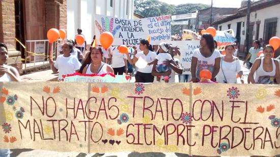 Marcha por la violencia contra la mujer en Santander de Quilichao1