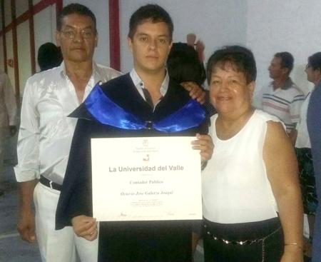Néstor Diego Galarza, Octavio José Galarza, Nymia Colombia Joaquí - Santander de Quilichao