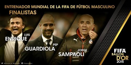 Nominados a mejores entrenadores 2015 - Fifa