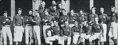 Primer partido de fútbol oficial