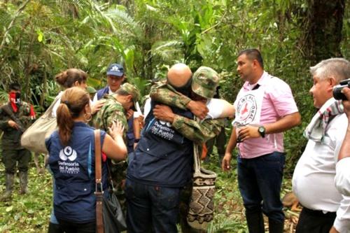 Soldados liberados por el ELN en Arauca