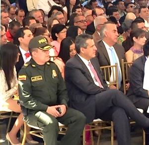 Acto de posesión de Oscar Campo como gobernador