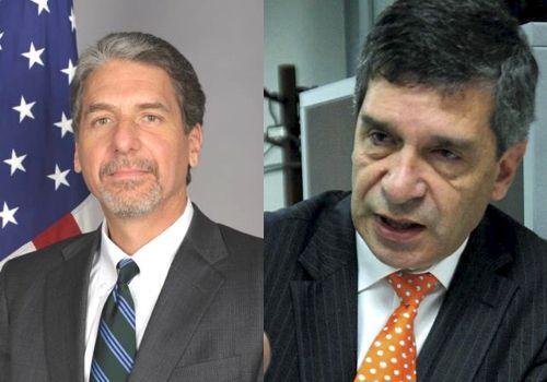 Embajador Kevin Whitaker y Rafael Pardo