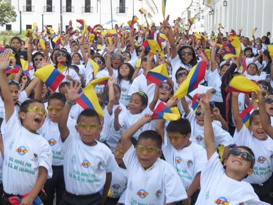 Niños claman por la paz en el Cauca