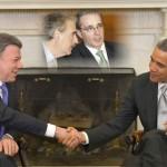 Santos pide a Pastrana y Uribe que lo acompañen a Estados Unidos