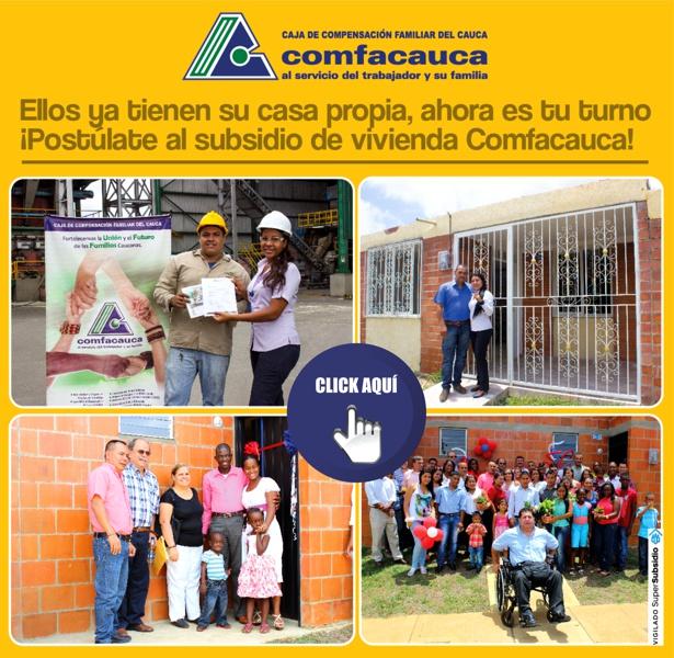 Subsidio de vivienda de Comfacauca