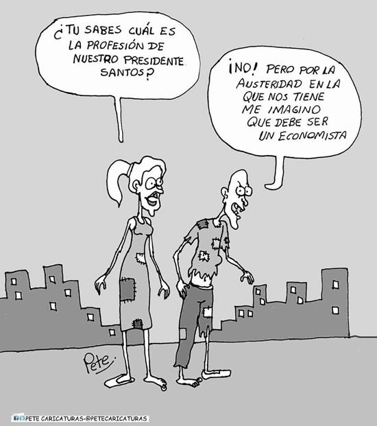 Caricatura del día - El economista Santos - Pete
