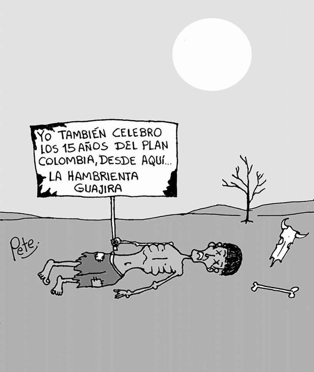 Caricatura del día - La hambrienta Guajira - Pete