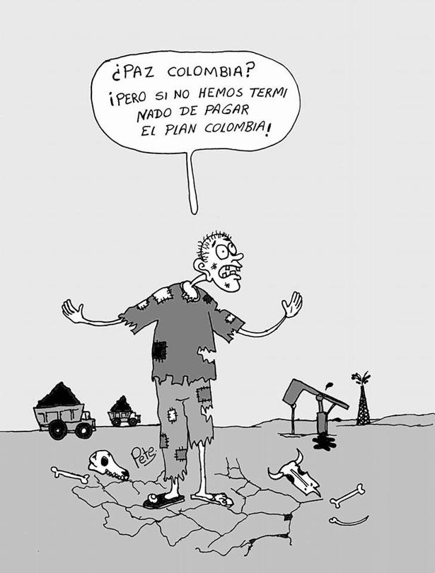 Caricatura del día - Paz Colombia - Pete