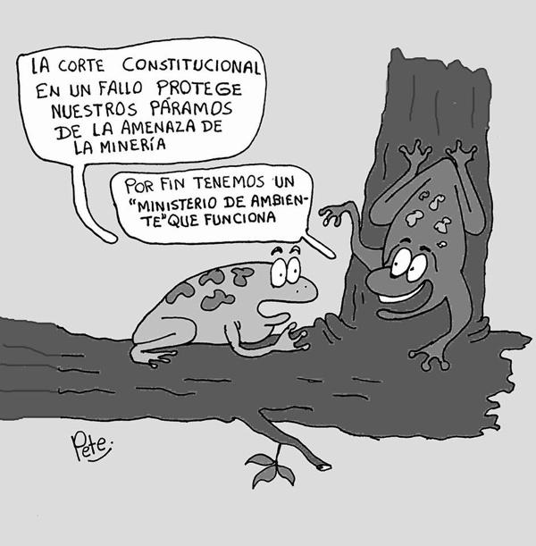 Caricatura del día - Protección de los páramos - Pete
