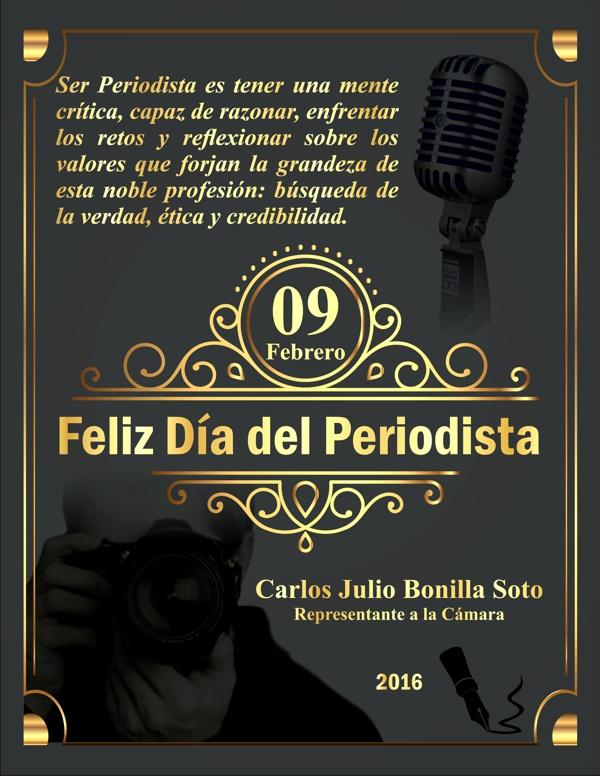 Feliz Día del Periodista - Carlos Julio Bonilla Soto