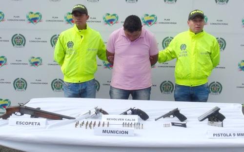 Capturan a un hombre que alquilaba armas de fuego en Popayán1
