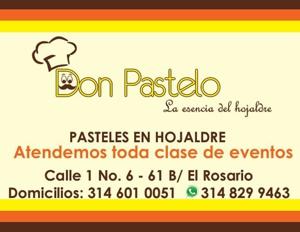 Don Pastelo - Pasteles de Hojaldre - Santander de Quilichao