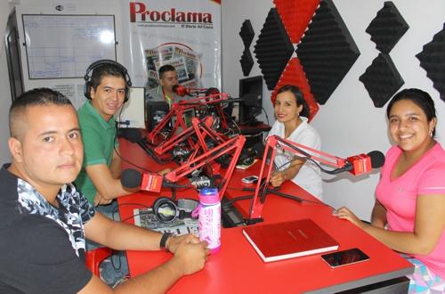 Einar Erazo de Jito's Food and Drink en Proclama Radio - Santander de Quilichao