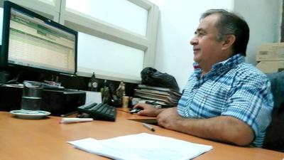 Rubio Humberto Pérez Molina, Jefe de Rentas del Cauca