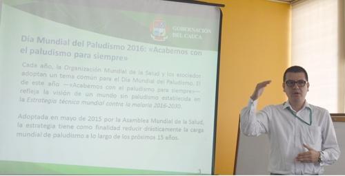 Anderson Piamba, funcionario de la Secretaría de Salud del Cauca