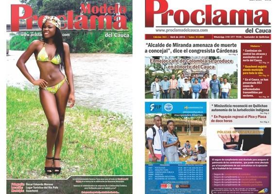 Edición No. 363 - Proclama del Cauca - Abril de 2016 - Portada