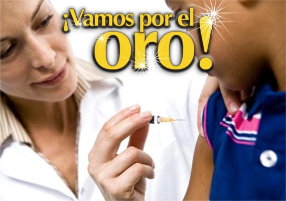 Vamos por el oro - Semana de Vacunación en las Américas - Secretaría de Salud del Cauca