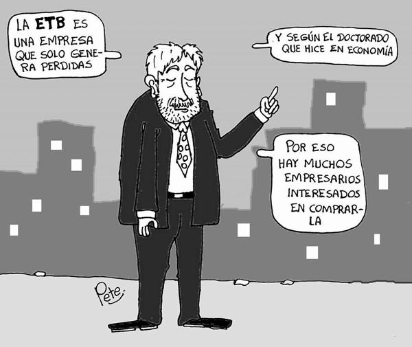 Caricatura del día - La ETB sólo genera pérdidas - Pete