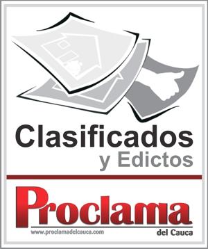 Clasificados y Edictos Proclama del Cauca