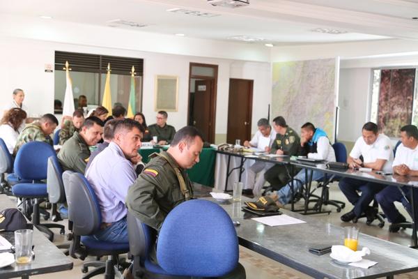 Departamento de Policía Cauca - Consejo de Seguridad - Movilización social campesina