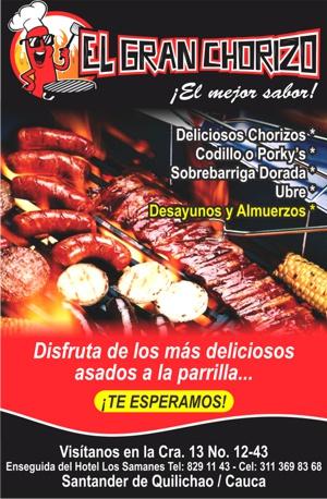 El Gran Chorizo - Asados a la Parrilla - Santander de Quilichao1
