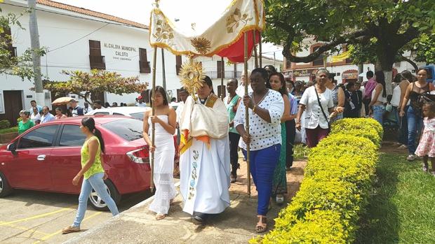 Fiesta del Cuerpo y la Sangre de Cristo en Caloto, Cauca