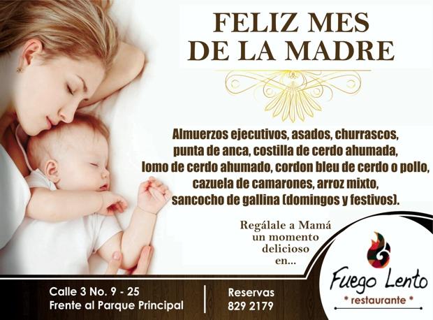 Fuego Lento Restaurante - Mes de las Madres - Santander de Quilichao