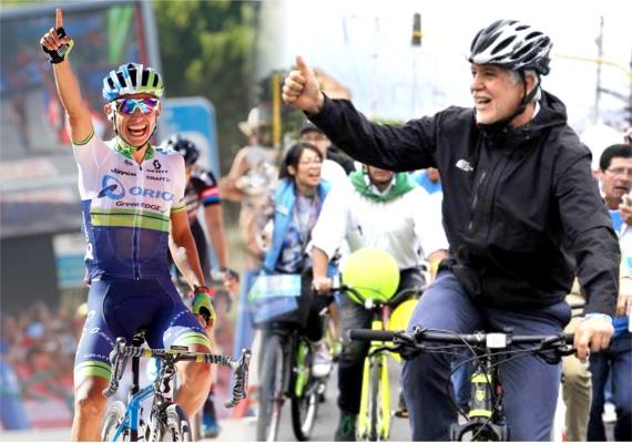 Peñalosa va en Triciclo - Esteban Chaves