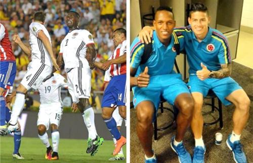 Cristian Zapata y Yerry Mina - Selección Colombia