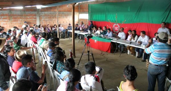 Mesa de negociación entre Gobierno e Indígenas del Cauca