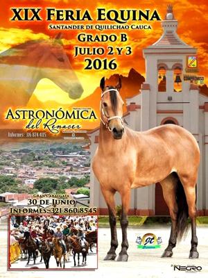 XIX Feria Equina Grado B 2016 en Santander de Quilichao
