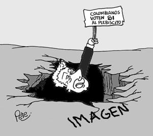 Caricatura del día - La imagen de Santos y el Plebiscito - Pete1