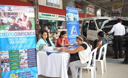 Crédito Comfacauca en feria vehicular de Popayán - III Feria de Vehículos