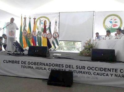 Posconflicto, seguridad ciudadana y agroindustria en la Cumbre de Gobernadores