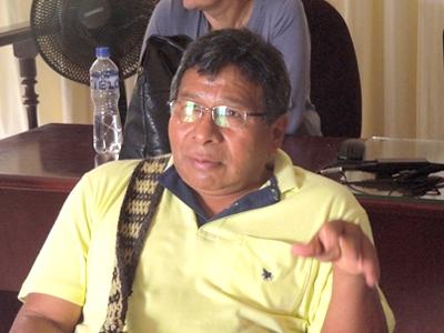 Tobías Escué, alcalde de Toribío, Cauca
