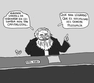 Caricatura del Día - Plusvalía y líderes de izquierda - Pete1