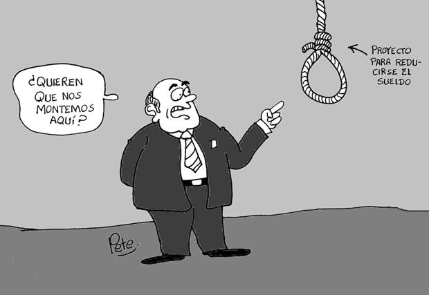 Caricatura del día - Reducir el sueldo de los congresistas - Pete