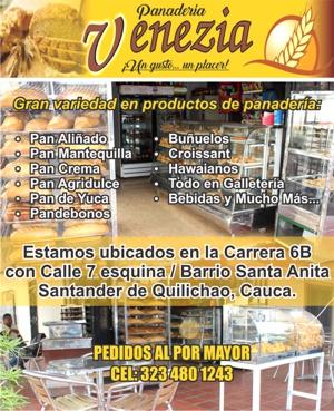 Panadería Venezia en Santander de Quilichao