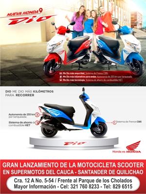 SUPERMOTOS DEL CAUCA - Santander de Quilichao - Moto Honda DIO 110