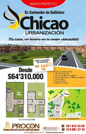 Urbanización Chicao en Santander de Quilichao, Cauca