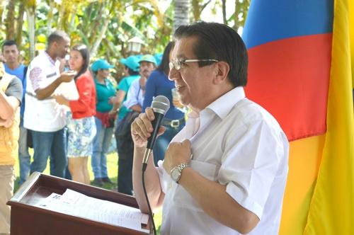 Viceministro de salud pública y prestación de servicios, Fernando Ruiz Gómez, en El Tambo, Cauca