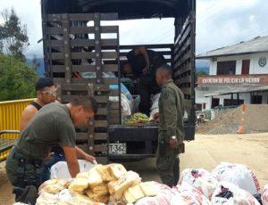 El pan era empacado en bolsas de comida para perros, en La Sierra, Cauca