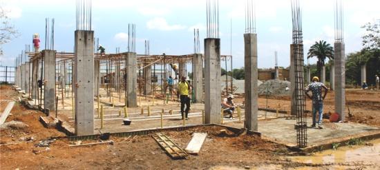 Construcción de la Institución Educativa Sagrada Familia, en Caloto