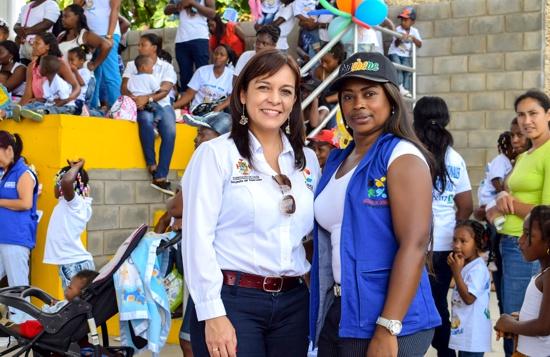 Gloria Adriana Perea Tobar, gestora Social de Guachené; Mabel Vargas Agredo, gestora Social del departamento del Cauca