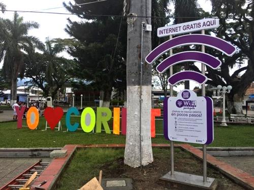 Corinto ya disfruta de internet gratis para la gente