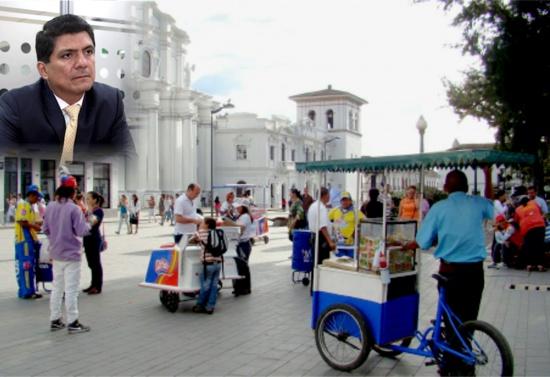 No me incomoda el vendedor ambulante, dice alcalde de Popayán - César Cristian Gómez Castro