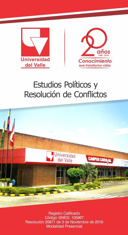 Estudia en la Universidad del Valle - Campus Carvajal - Estudios políticos y resolución de conflictos