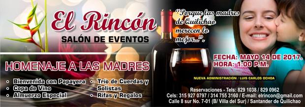 Homenaje a las Madres en El Rincón - Salón de Eventos - 14 de Mayo de 2017