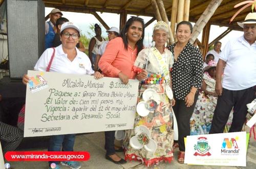 Se realizó Reinado del Adulto Mayor en Miranda, Cauca